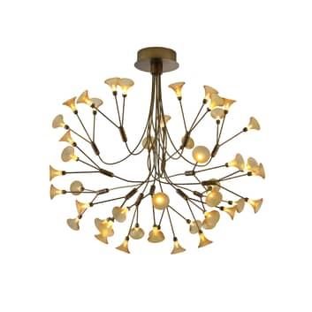 B-Leuchten Fleur LED-hengelampe, antikk messing