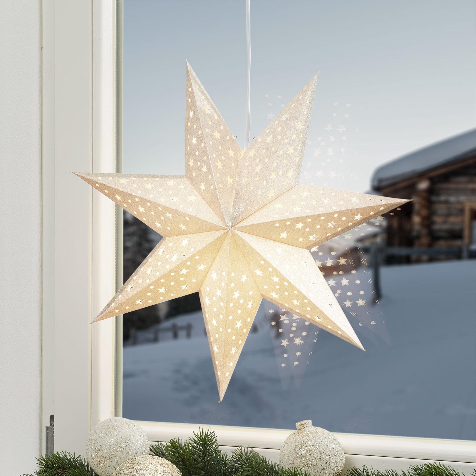 Gullfarget stjerne Solvalla 45 cm
