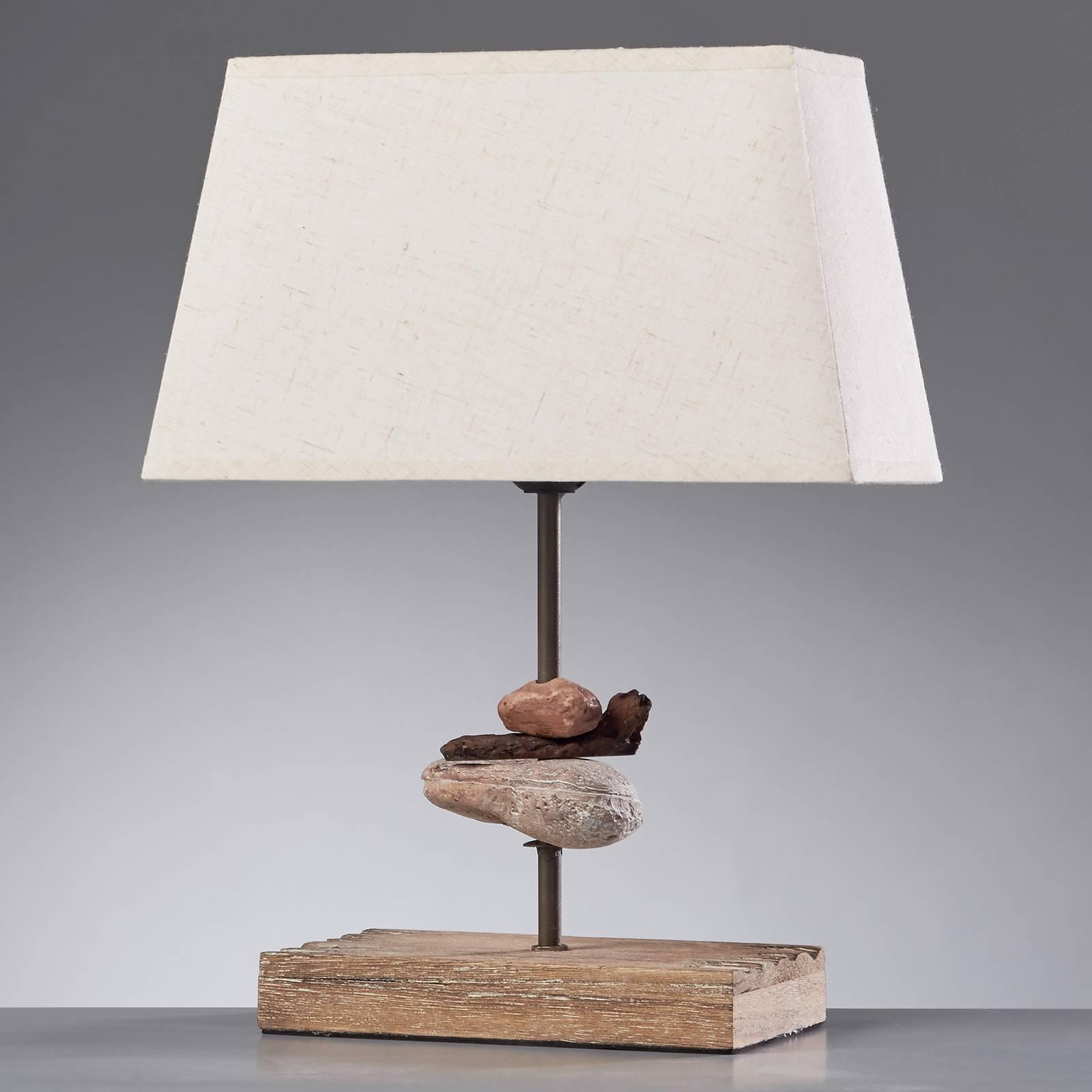 Tafellamp Seregon met stoffen kap, hoogte 39 cm