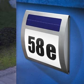 Numéro de maison lumineux solaire WAVE