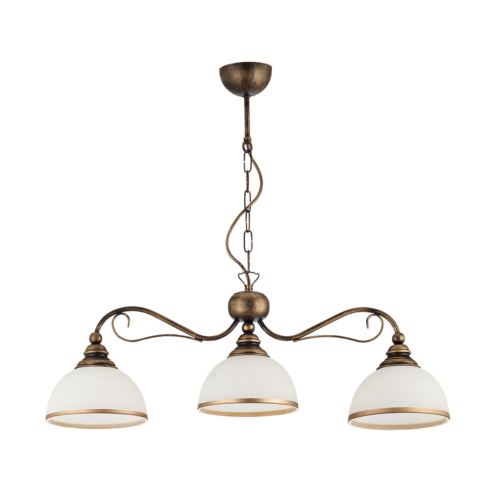 Suspension linéaire Casale à 3 lampes, long. 74cm