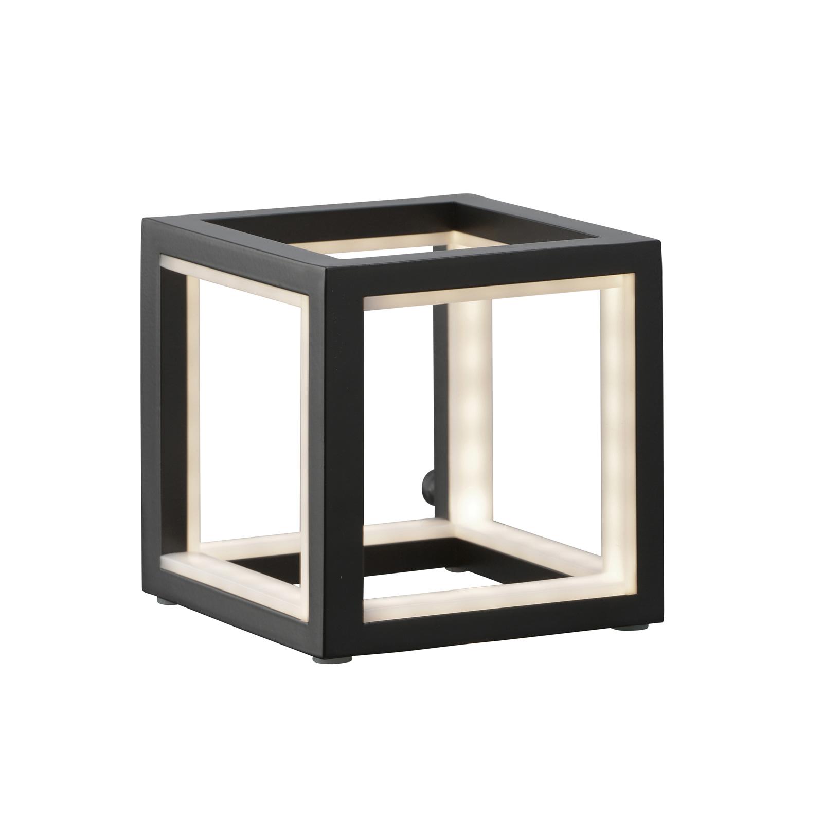 LED-bordlampe Delux, svart, 12 cm