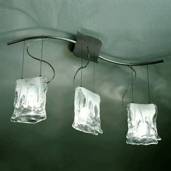 MURANO pendellampe med tre lys og alabastglass