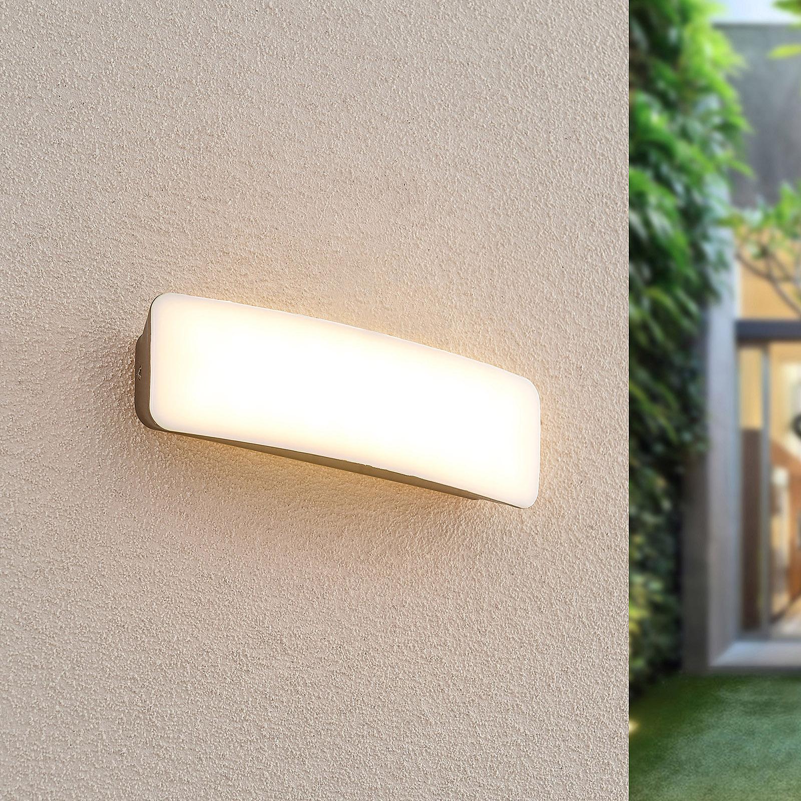 Lucande Lolke udendørs LED-væglampe