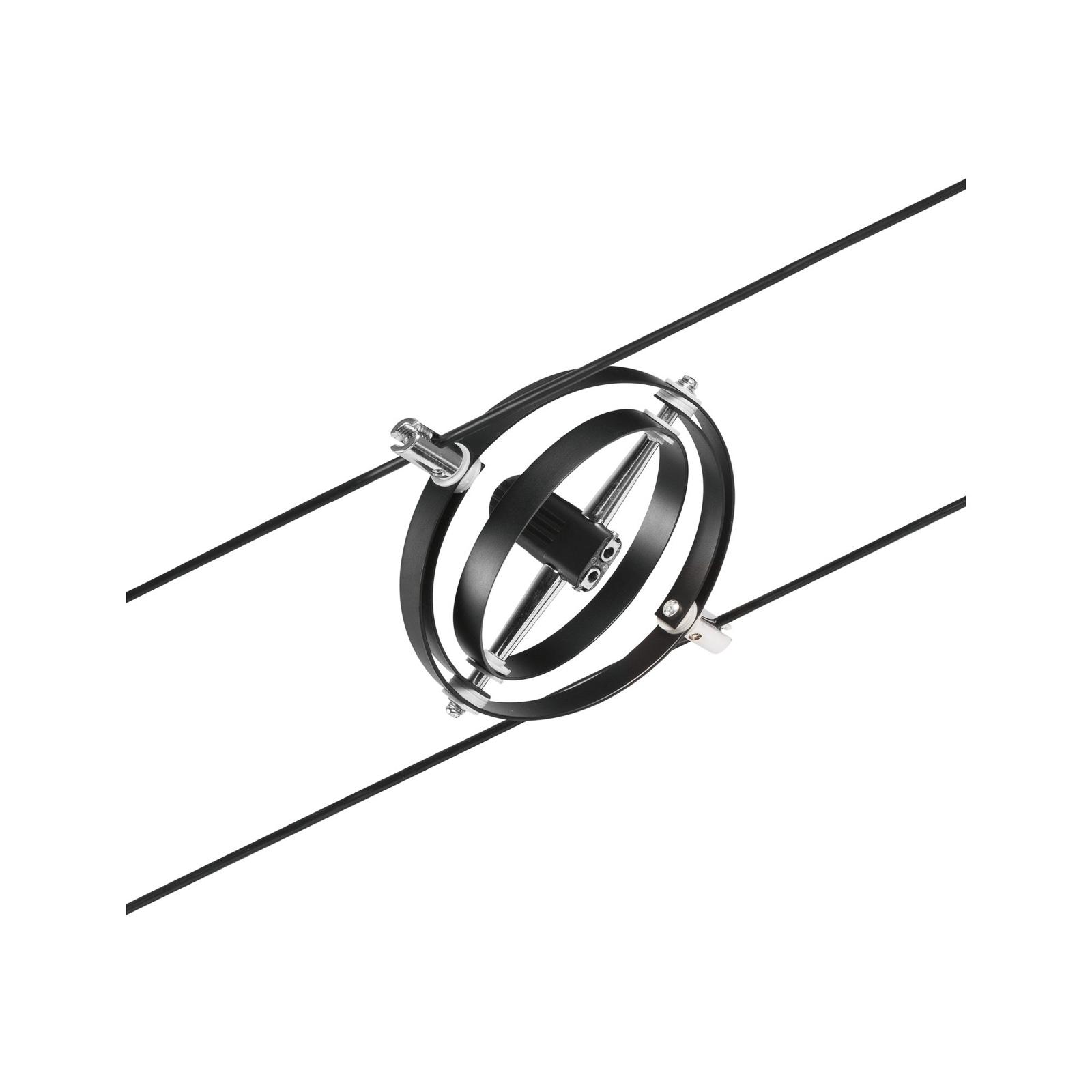 Paulmann Wire Cardan Spot für Seilsystem schwarz