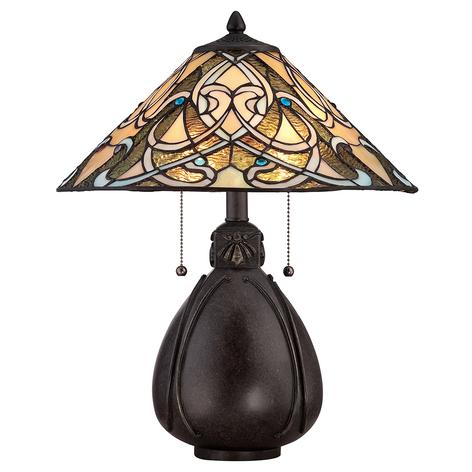 Lampada da tavolo India in design tiffany