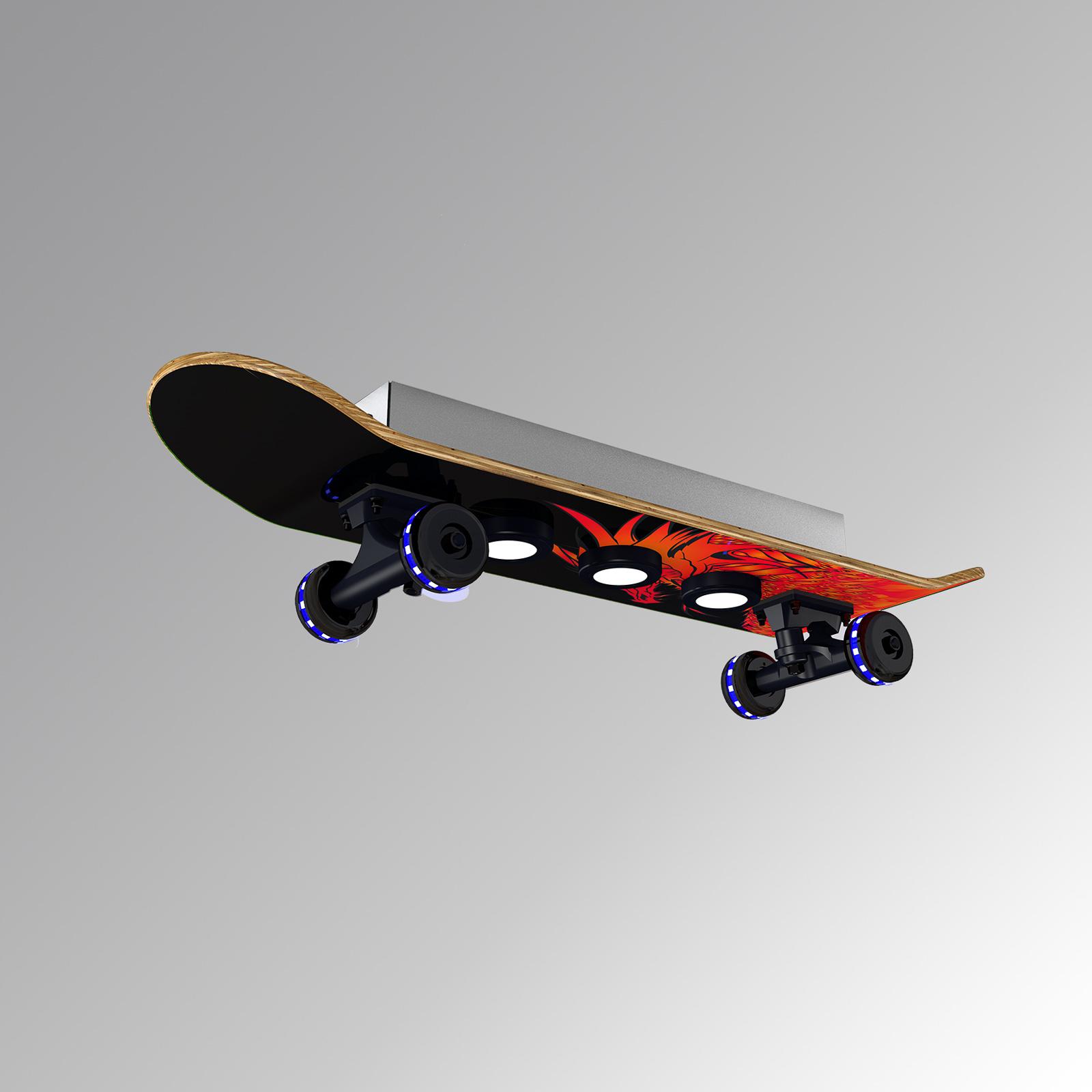 Plafondlamp Skateboard Easy Cruiser Dragon, RGBW