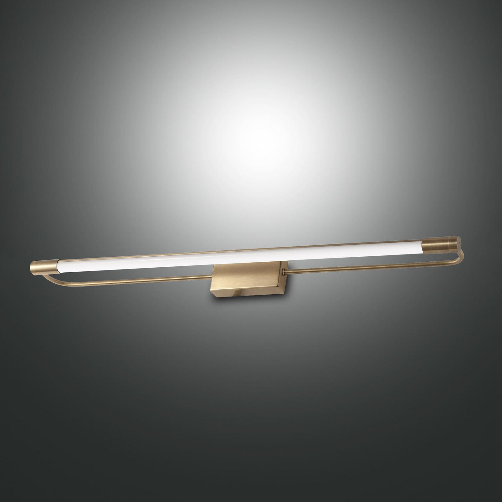 Applique LED Rapallo, ottone, IP44, 60 cm