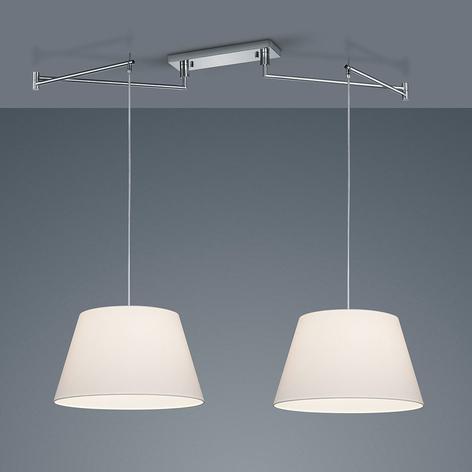 Helestra lámpara colgante Certo cónico 2 luces