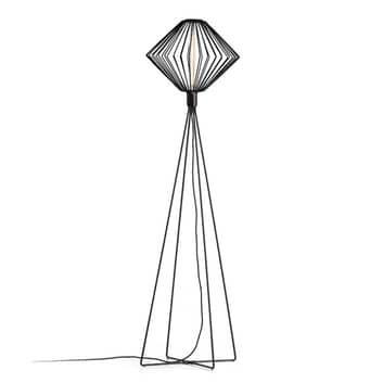 WEVER & DUCRÉ Wiro Diamond lampada da terra nero
