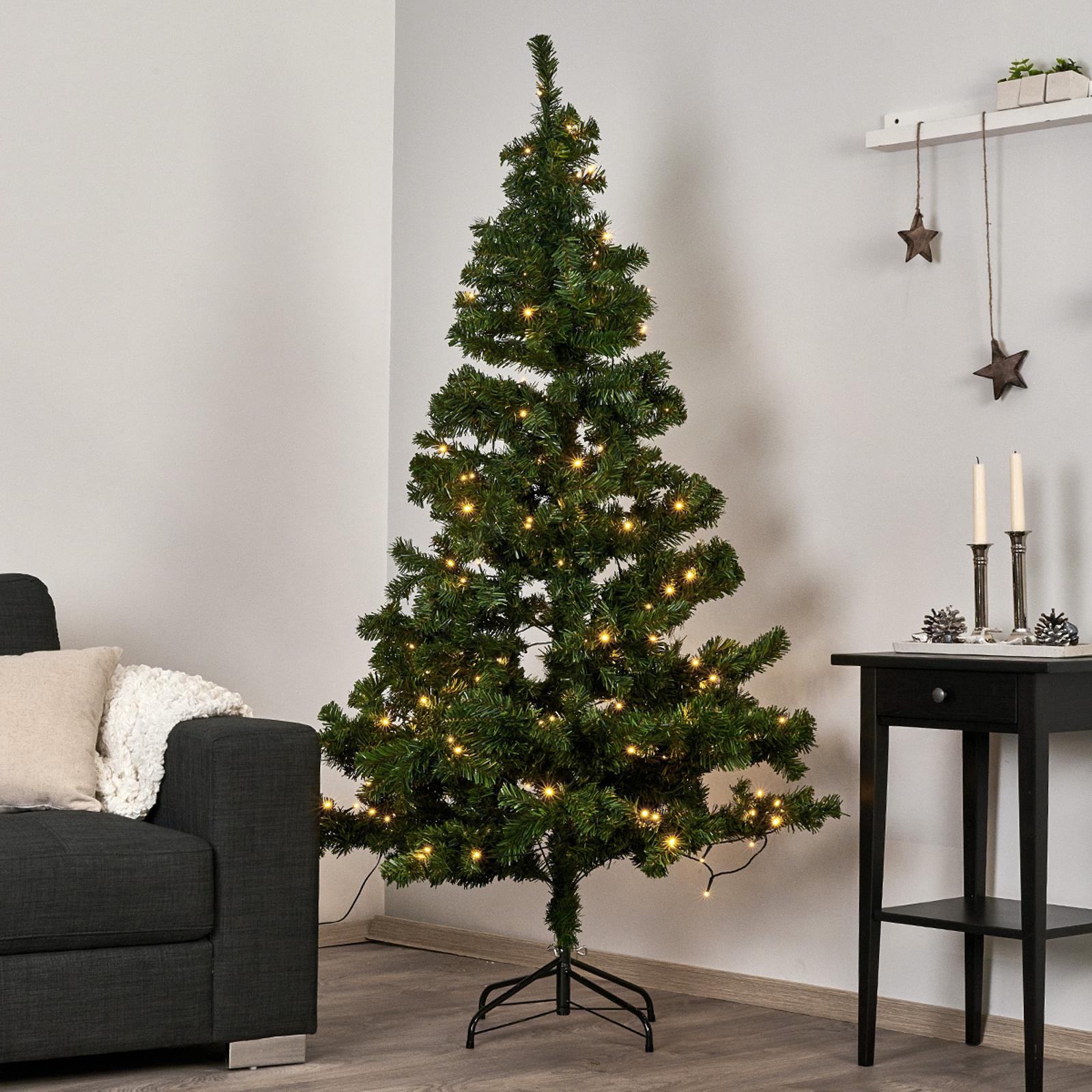 Lysande LED-julgran Ottawa utomhusbruk 1,5m 110LED
