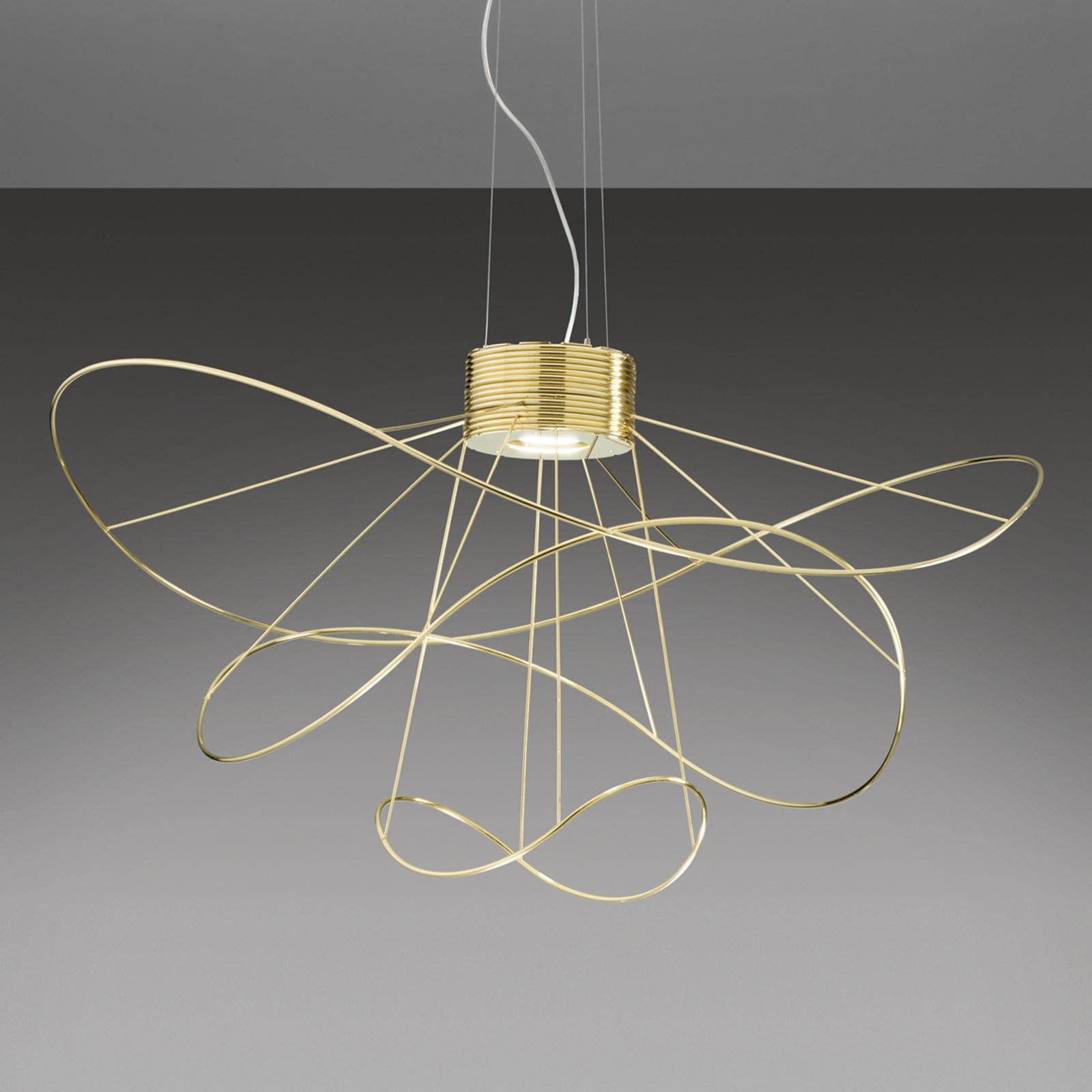 Uszlachetniana złotem lampa wisząca LED Hoops 3