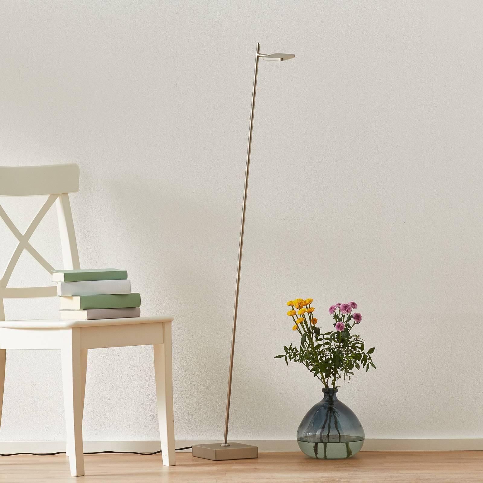 Lampa stojąca LED Block, 1-punktowa, kolory stali