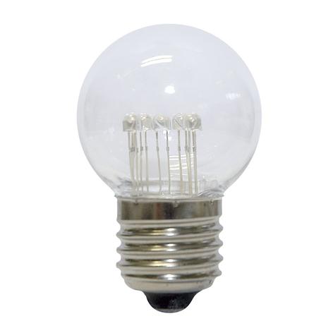 LED golfbal-lamp E27 0,7W daglicht helder