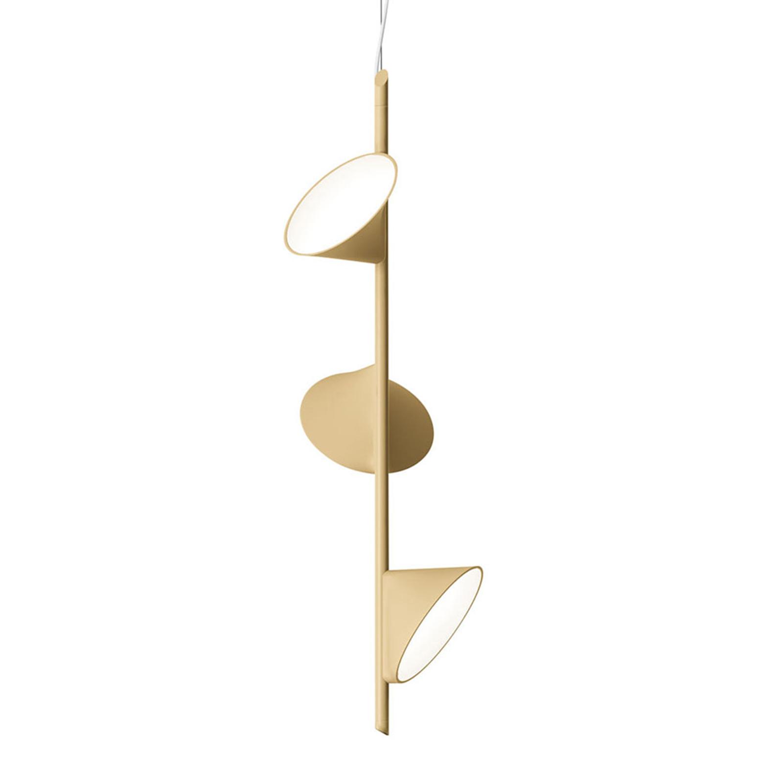 Axolight Orchid LED-Hängeleuchte, dreiflammig sand