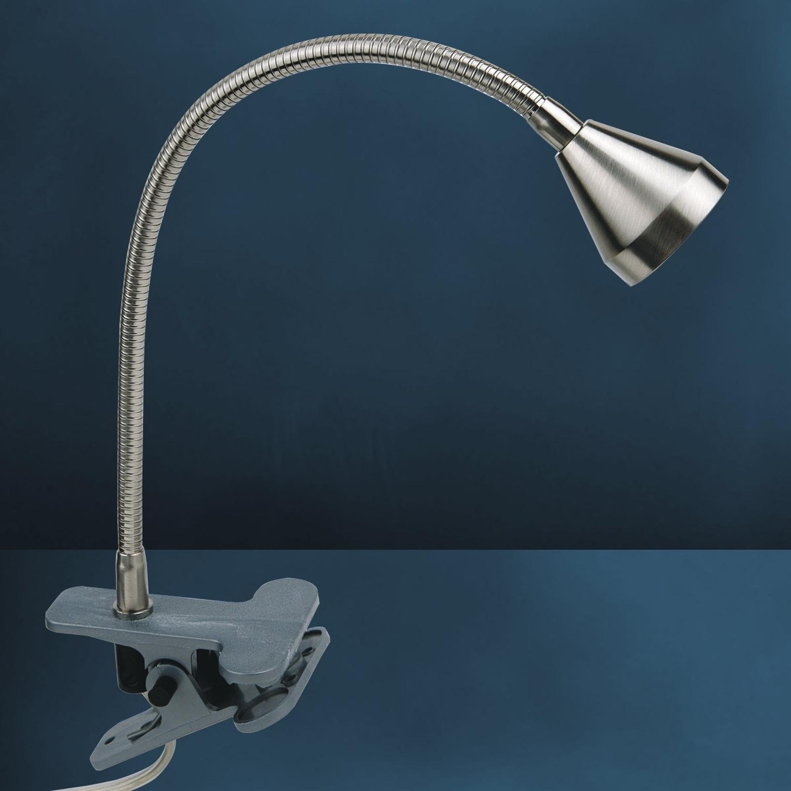 Funktionel MINI LED-klemlampe, universalhvid