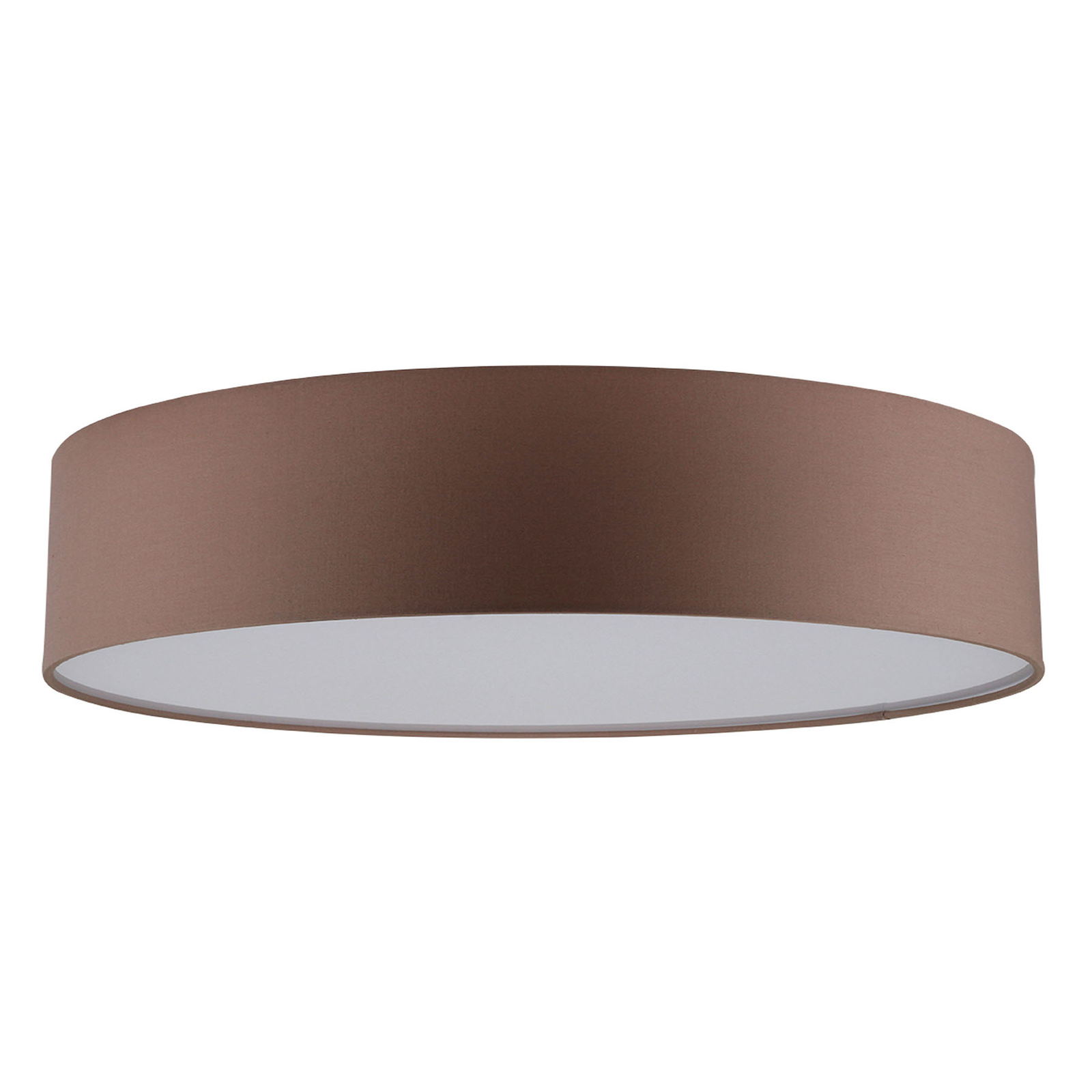 Lampa sufitowa LED Josefina, Ø 48 cm, brązowa