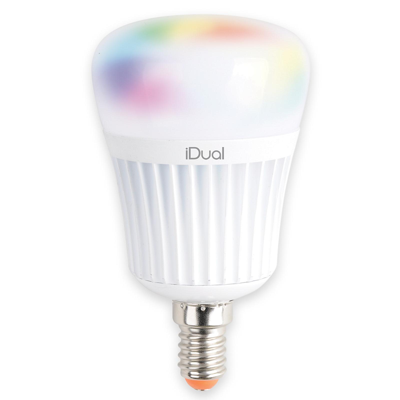 E14 iDual LED-Lampe 7 W RGB ohne Fernbedienung
