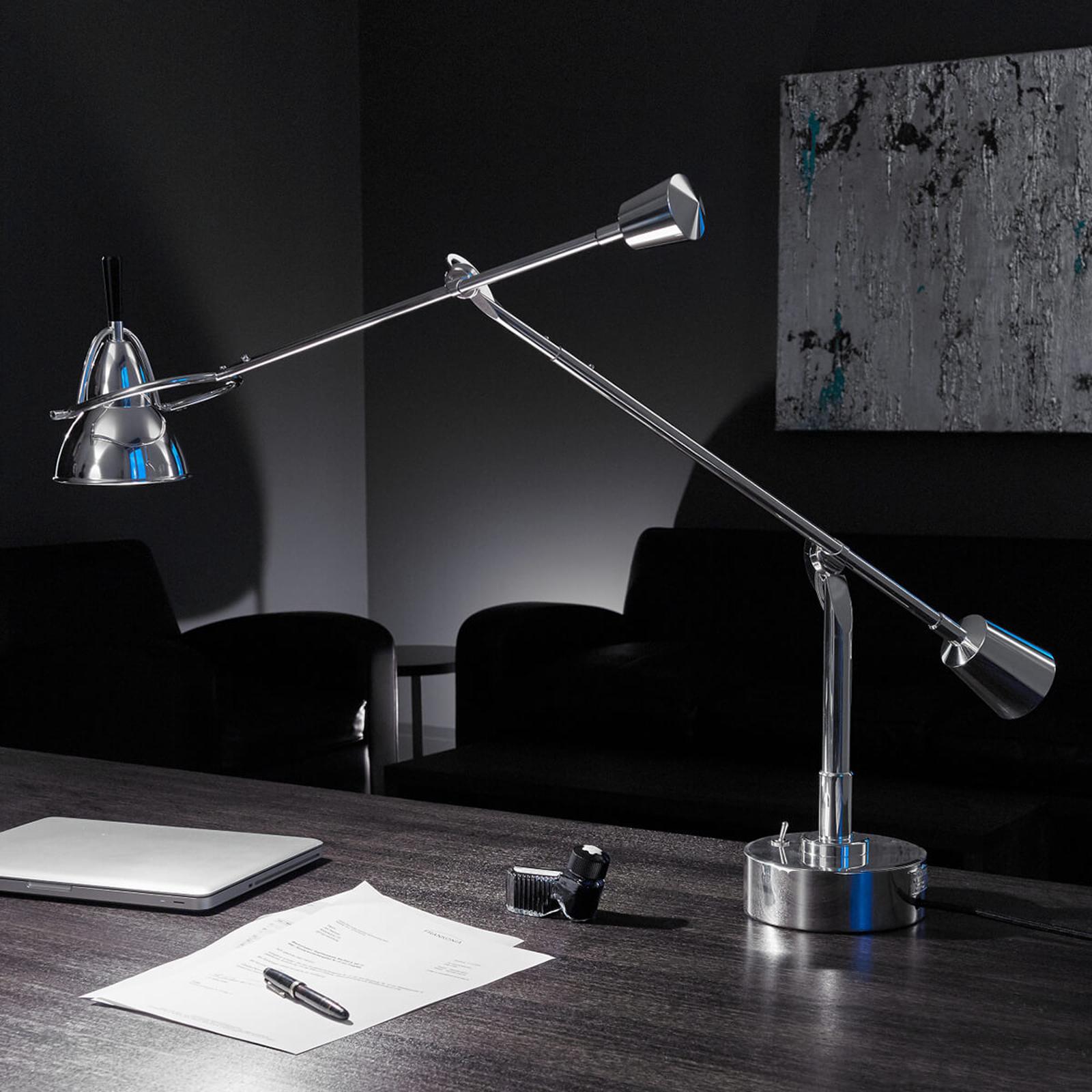 TECNOLUMEN Buquet LED-Tischleuchte versilbert