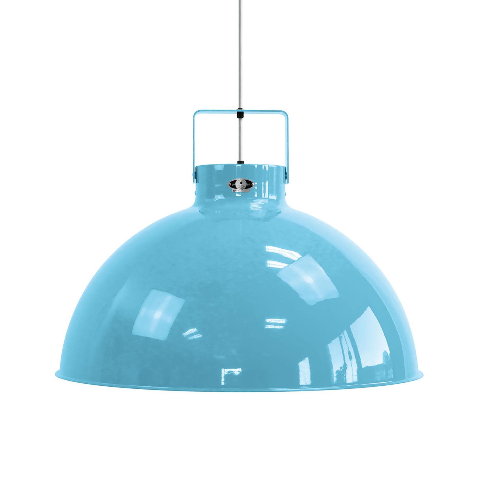 Jieldé Dante D675 hanglamp, lichtblauw, Ø 67,5cm