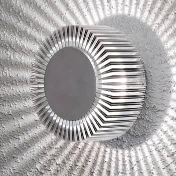 LED-Außenwandlampe Monza Strahlen rund silber 15cm