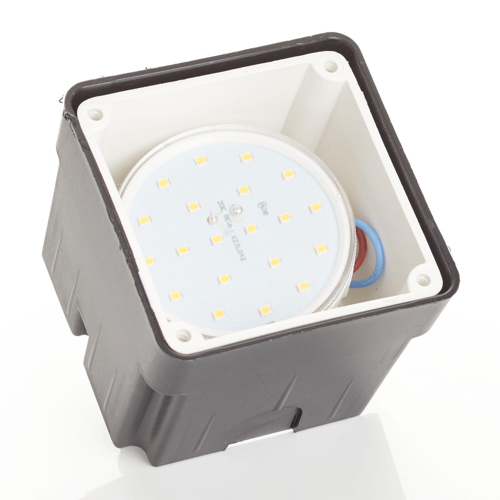 Lampe encastrable Leti 100 Square-ST noire 3000K