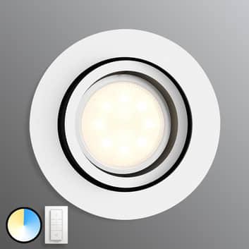 Philips Hue Milliskin rund, hvit med dimmebryter