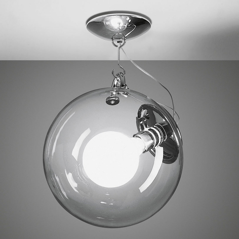 Artemide Miconos taklampe i glass og krom