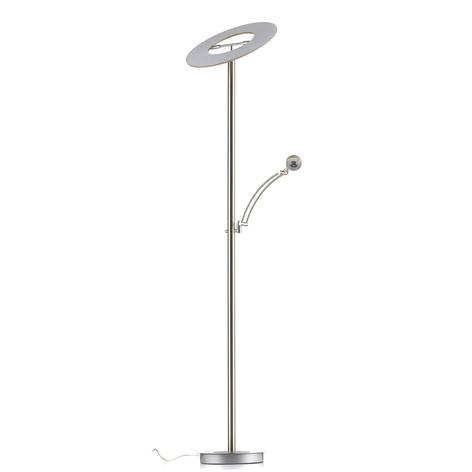 Lámpara LED de pie Monza con madera clara