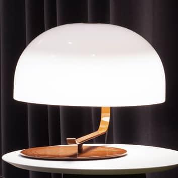 Zanuos - retro-designerbordlampe m brun fod