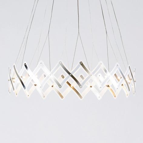 Lámpara colgante LED Zoom de rejilla extensible