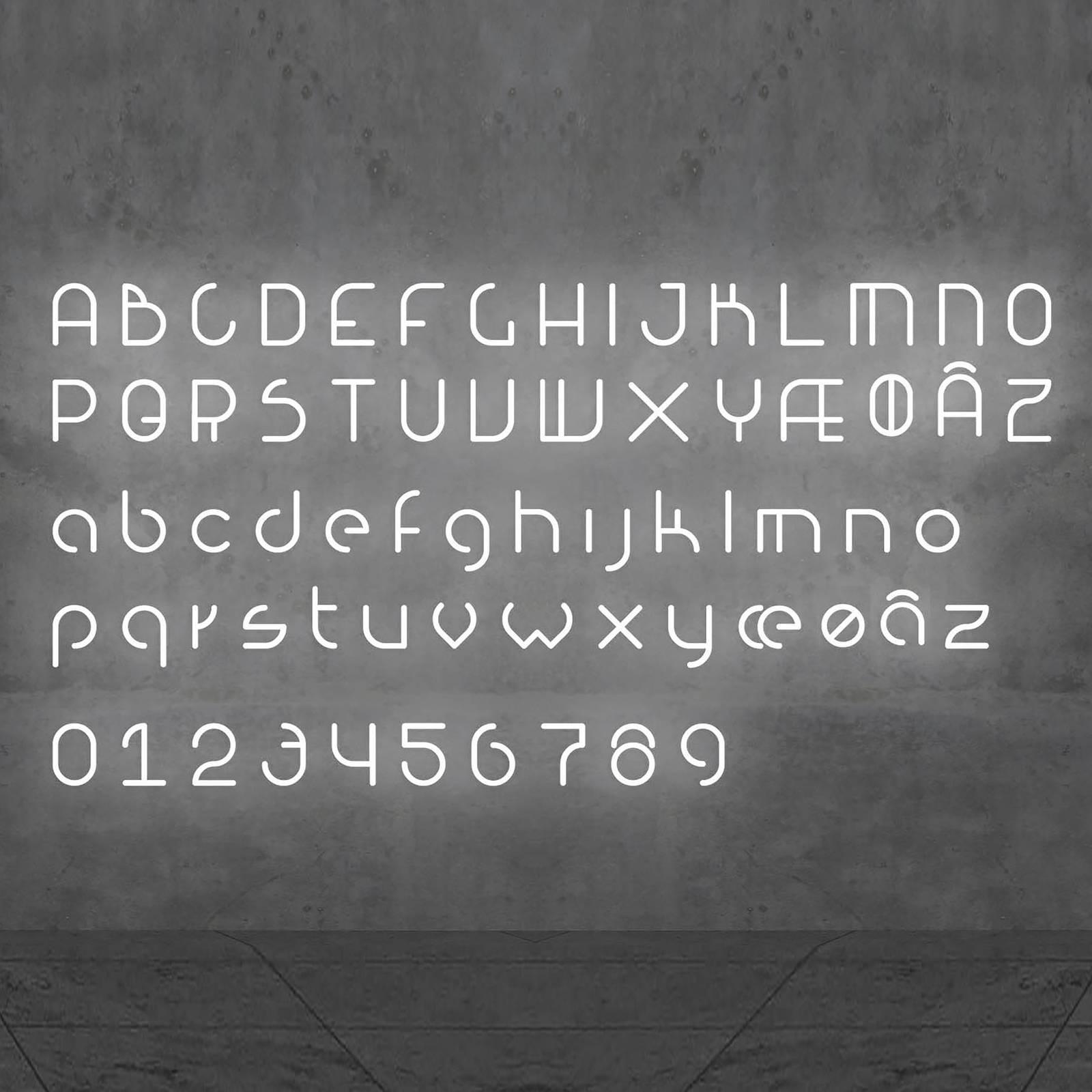 Artemide Alphabet of Light parete minuscola x