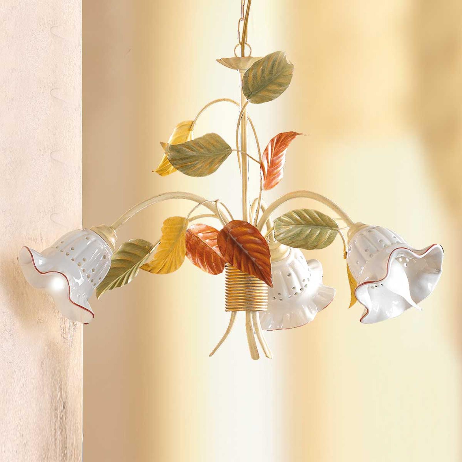 Flora hængelampe i florentinsk stil, 3 lyskilder