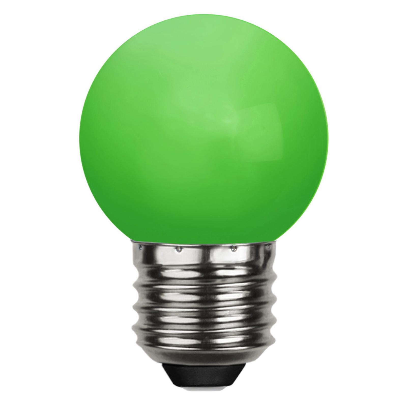 LED-Lampe E27 G45 für Lichterketten, grün