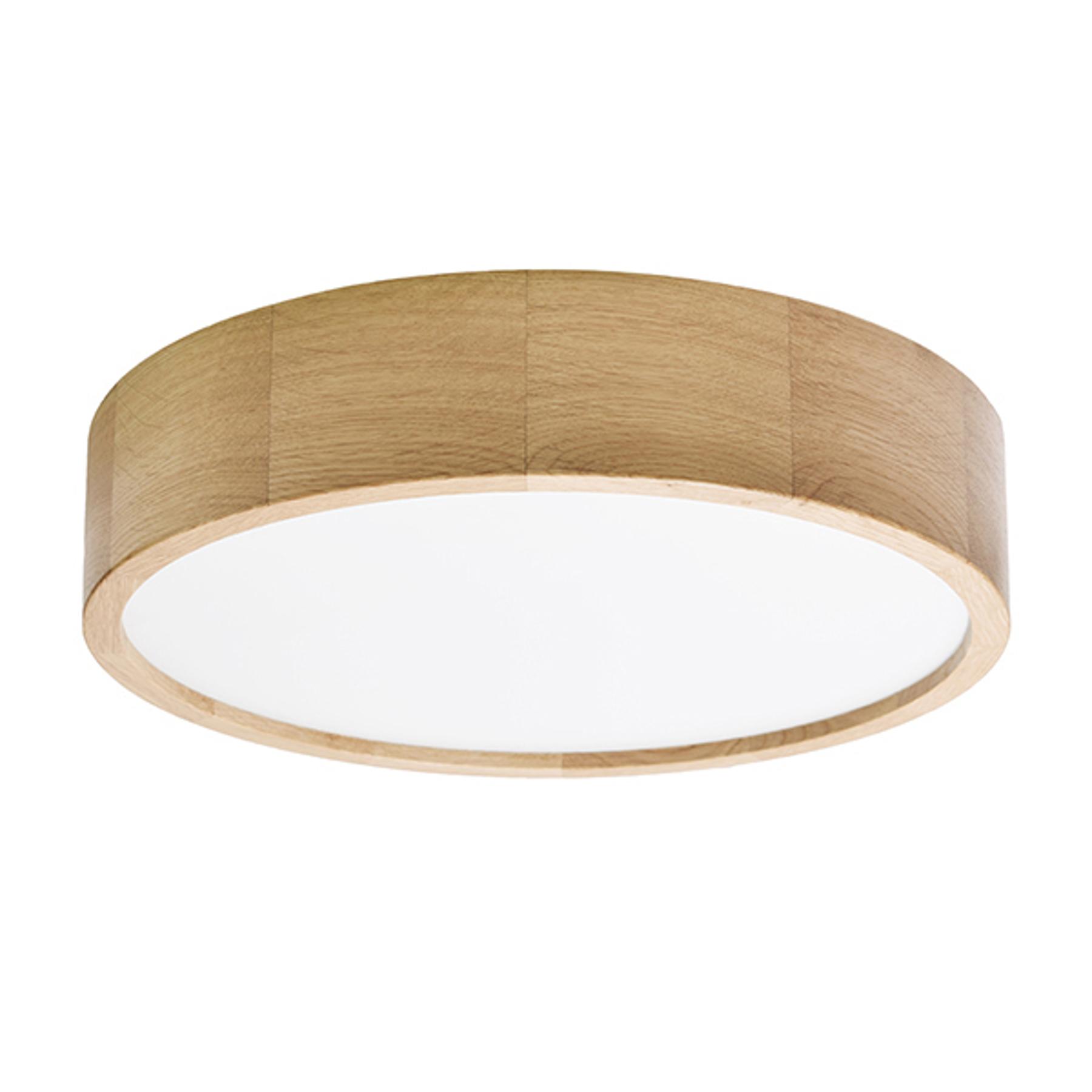 Lampa sufitowa Cleo, Ø 38 cm, dąb