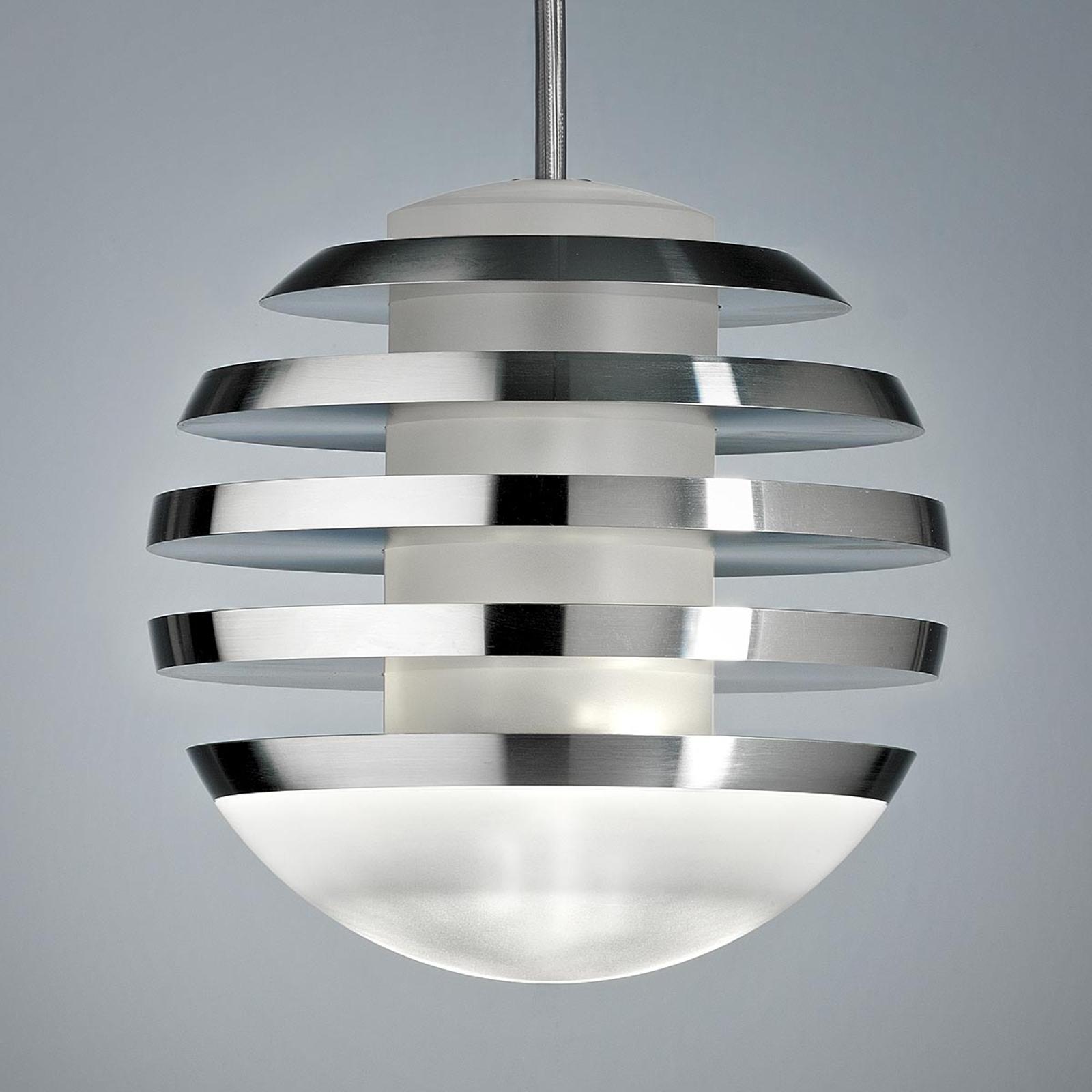 TECNOLUMEN Bulo - LED-Hängeleuchte aluminium