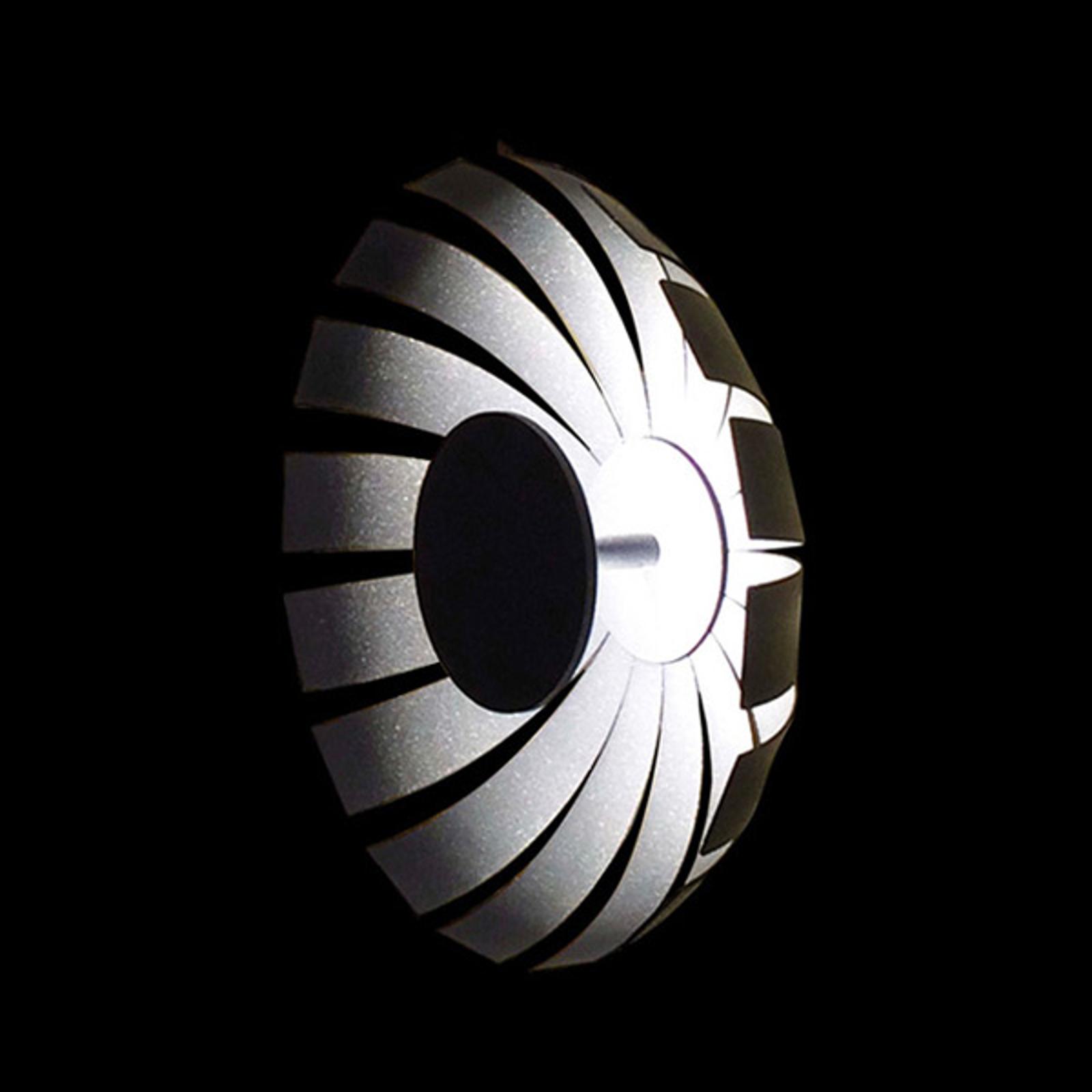 LED design plafondlamp Loto, antraciet, 27 cm