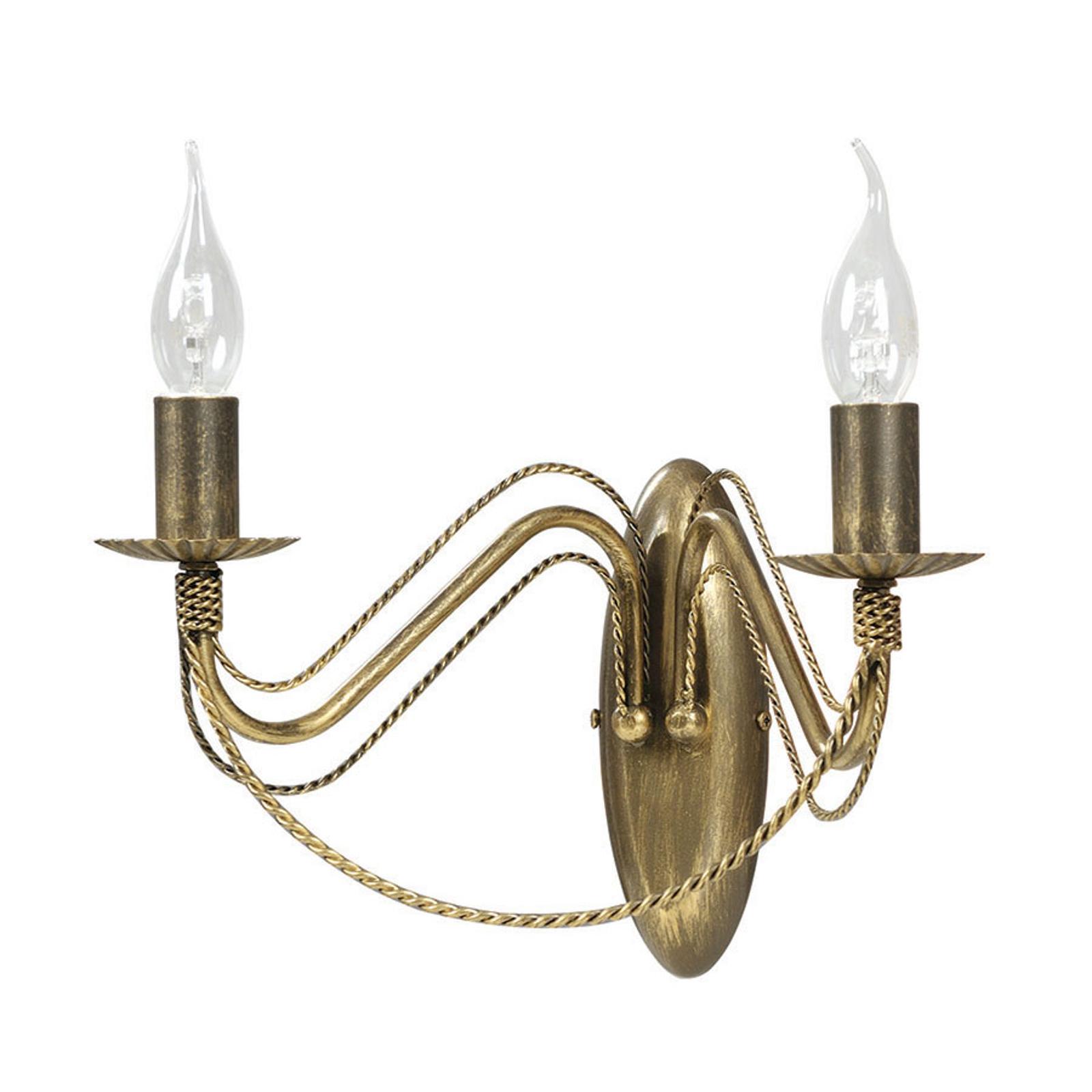 Kinkiet Tori K2 w kształcie świecznika, złoty