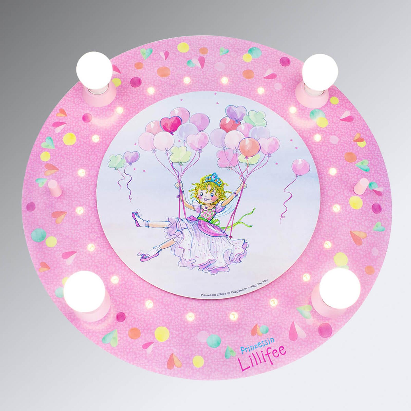 Deckenleuchte Prinzessin Lillifee mit LEDs rund