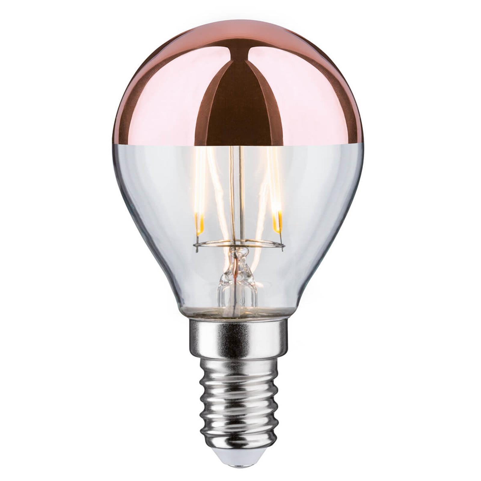 Paulmann LED-Kopfspiegellampe E14 2,6W 827 kupfer