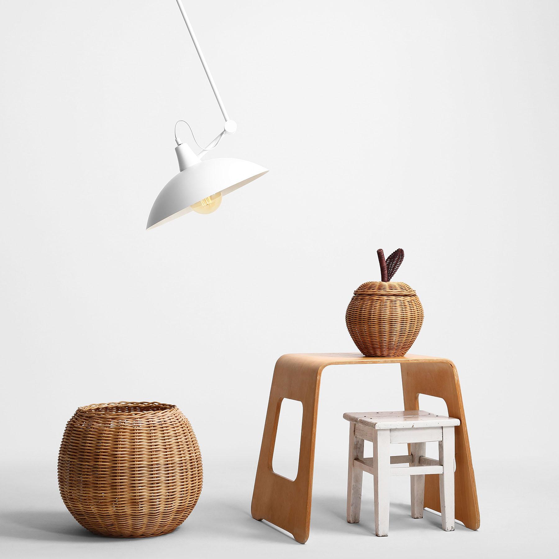 Lampa sufitowa 808 regulowana 1-punktowa biała
