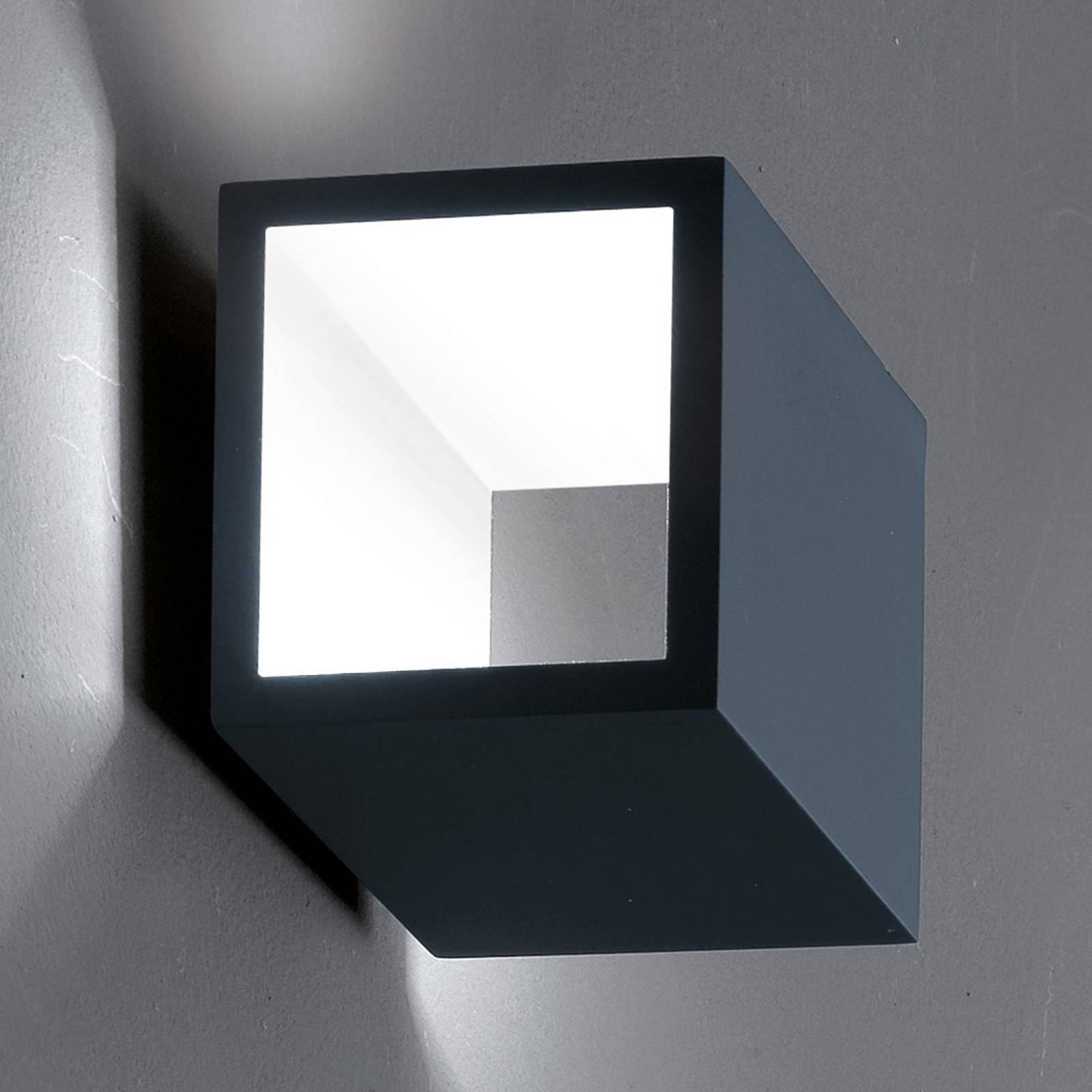 ICONE Cubò LED-Wandleuchte, 10 W, titan/weiß