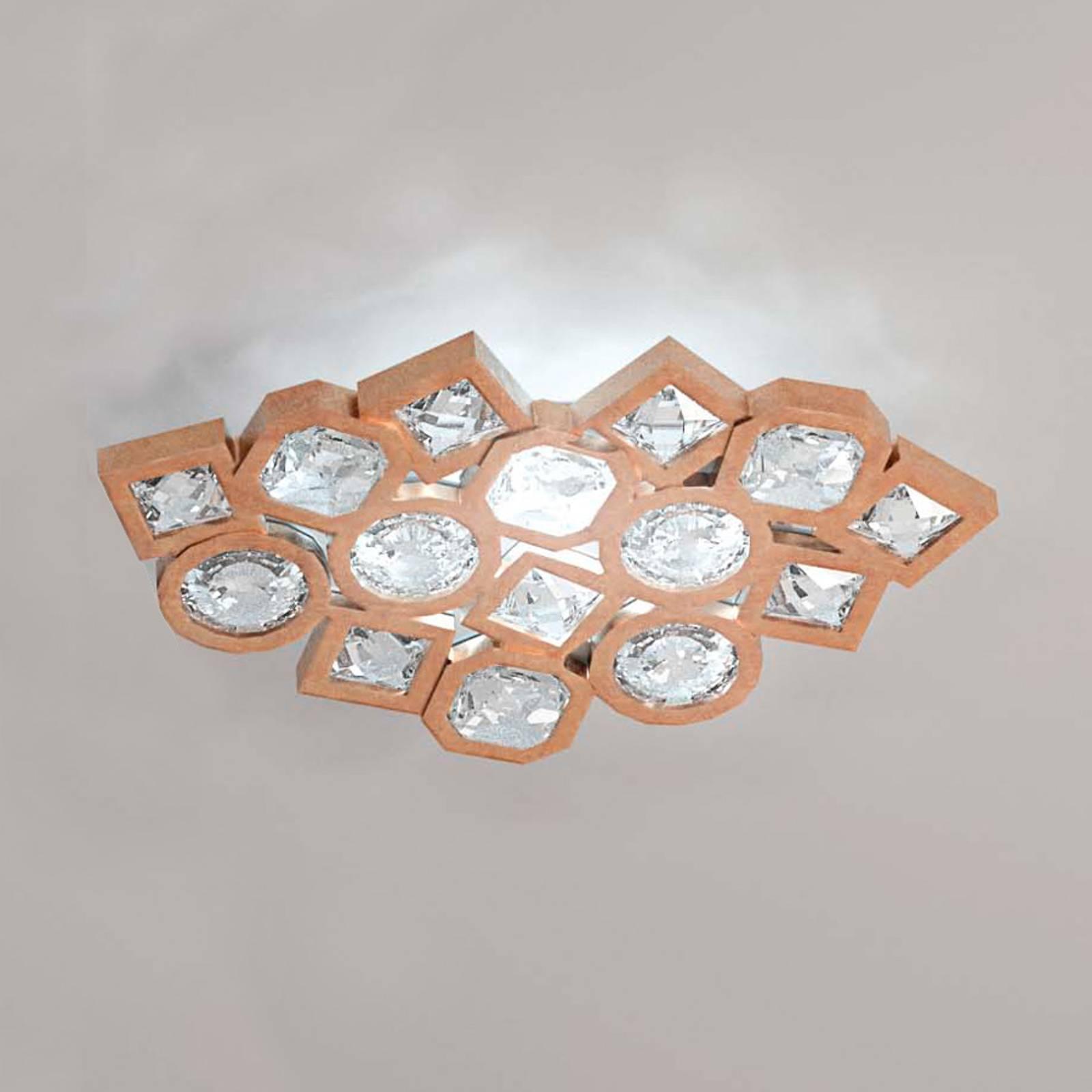 Miedziana lampa sufitowa LED Stardust