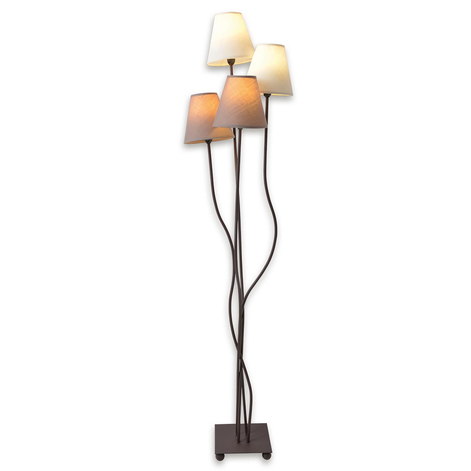 Twiddle - gulvlampe med fire stofskærme