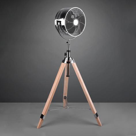 Stojanový ventilátor Tromsö, dřevěný stativ