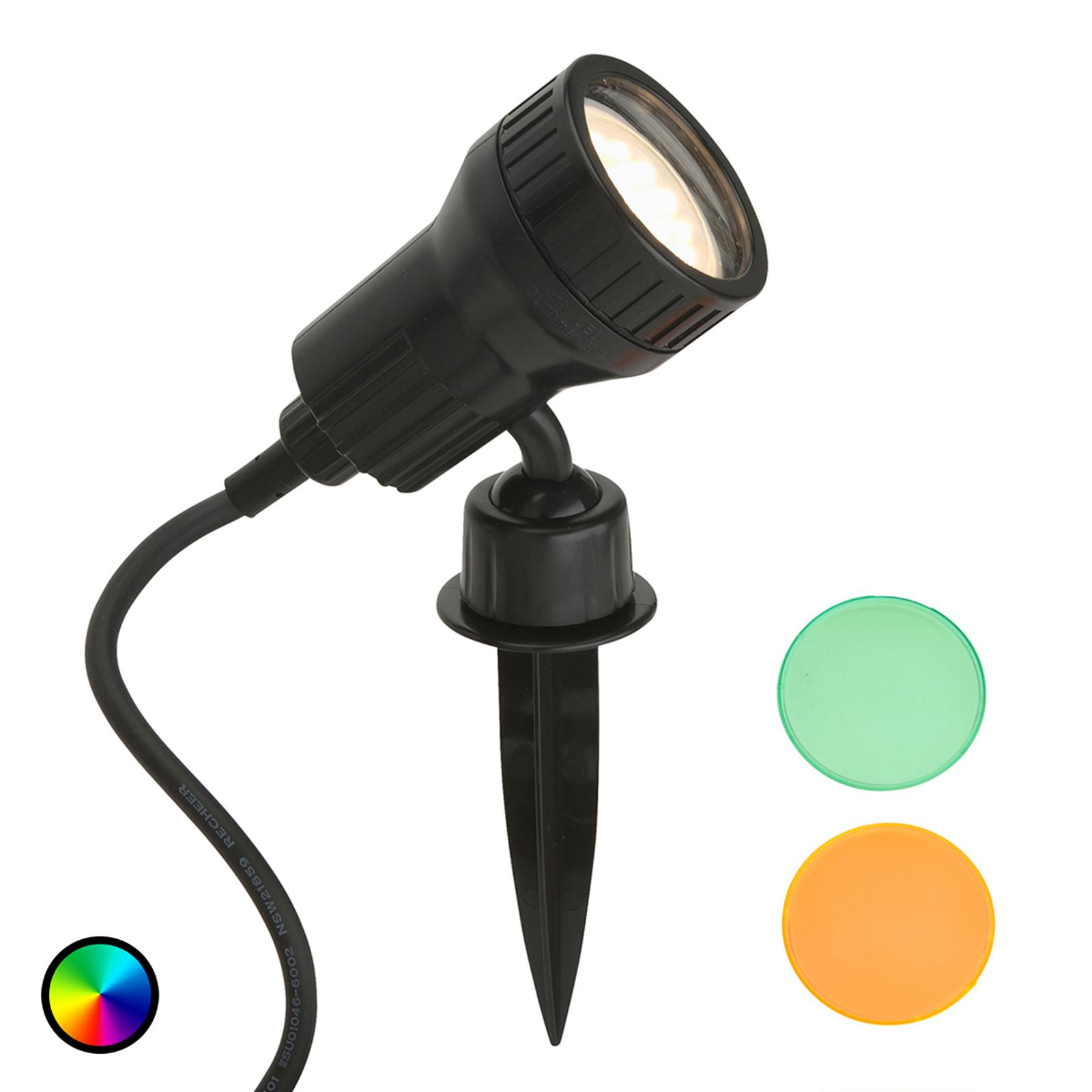 LED-Erdspießstrahler Terra inklusive Farbfilter