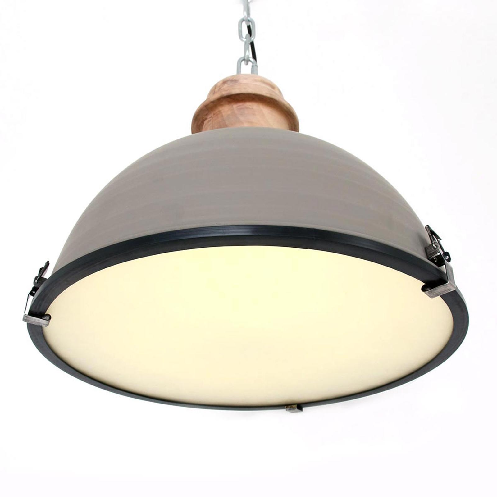 Lampada sospensione Bikkel, metallo grigio