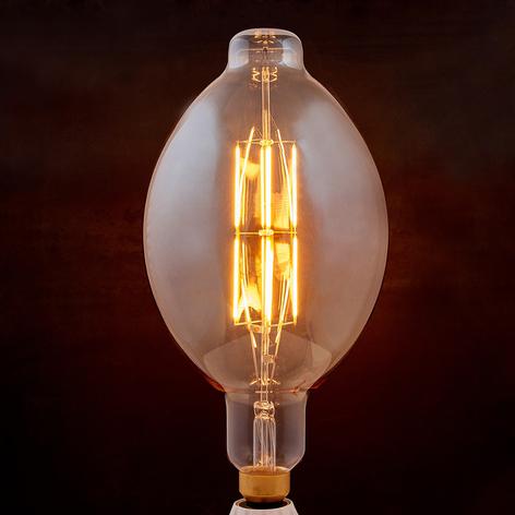 Lampadina LED a filamento E27 8W 1900K ovale ambra