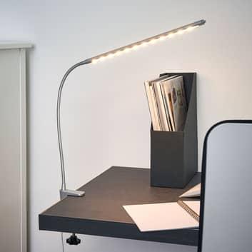 Lampada LED a morsetto Anka con braccio flessibile