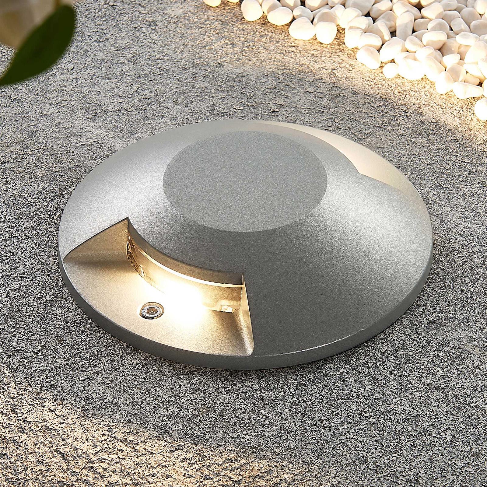 Lucande Jeffrey LED-lattiaspotti, 2-lamp.